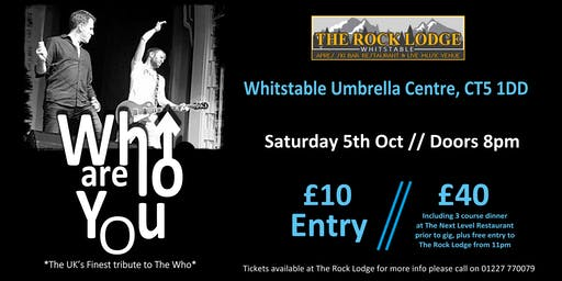 Who Are You - The UK's Finest tribute to The Who live in Whitstable!