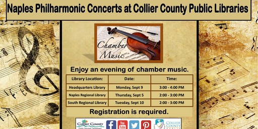 Naples Philharmonic Concert at South Regional Library