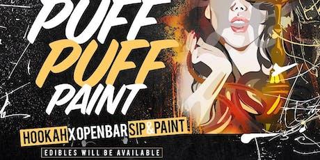 Puff Puff Paint:  Hookah x Paint x Drinks x Edibles Unique Sip&Paint tickets