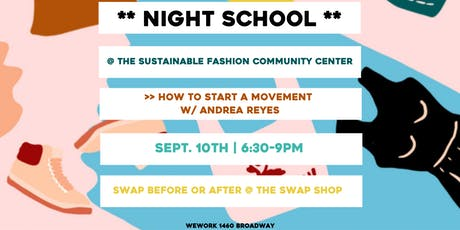 Night School: How to Start a Movement tickets