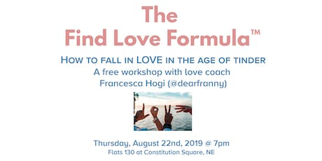 DC EDITION: The Find Love Formula™ tickets