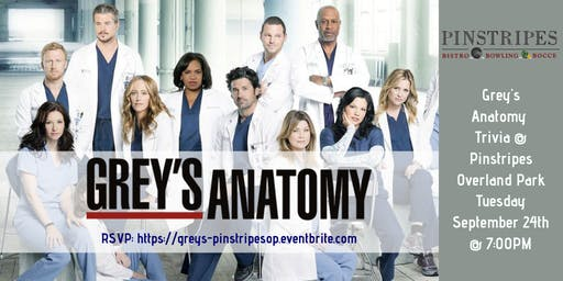 Grey's Anatomy Trivia at Pinstripes Overland Park