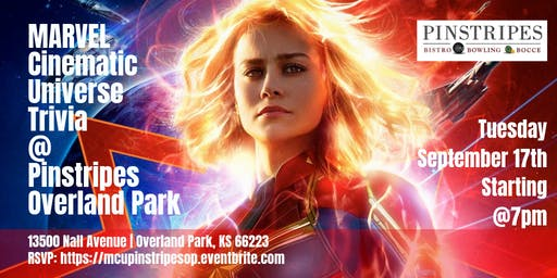 Marvel Cinematic Universe Trivia at Pinstripes Overland Park