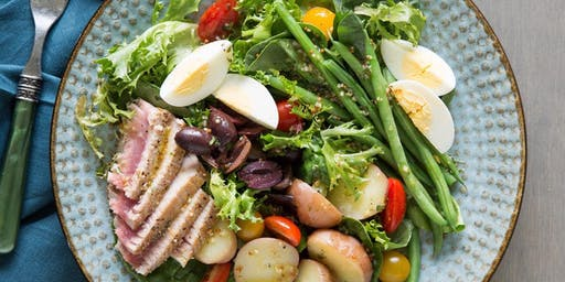 UBS Cooking School: Seared Tuna Nicoise Salad