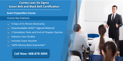 Combo Lean Six Sigma Green Belt and Black Belt Certification Training in Topeka, KS