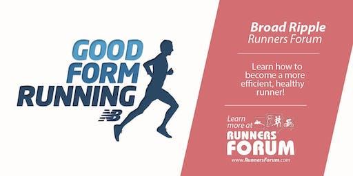 Good Form Running - at Broad Ripple Runners Forum