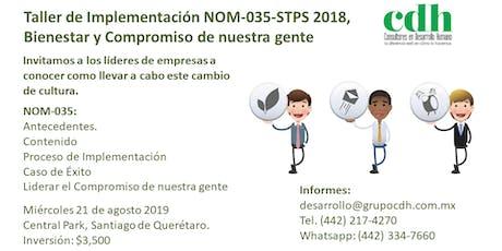 Taller de Implementación NOM-035-STPS 2018 boletos