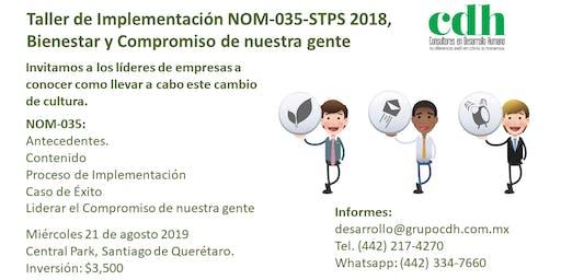 Taller de Implementación NOM-035-STPS 2018