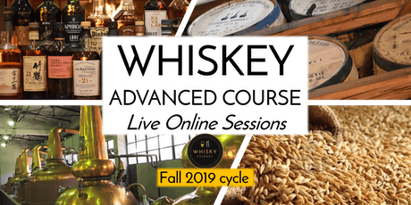 Whiskey advanced course - Cycle of 4 Live Online sessions tickets