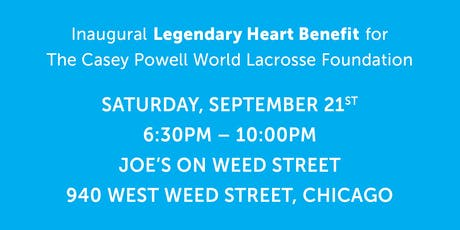 The Casey Powell World Lacrosse Foundation Legendary Heart Benefit tickets
