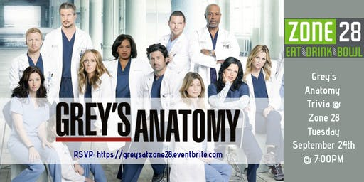 Grey's Anatomy Trivia at Zone 28