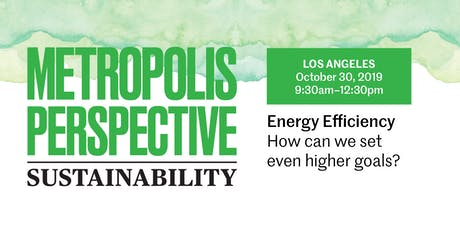 ENERGY EFFICIENCY: How can we set even higher goals? tickets