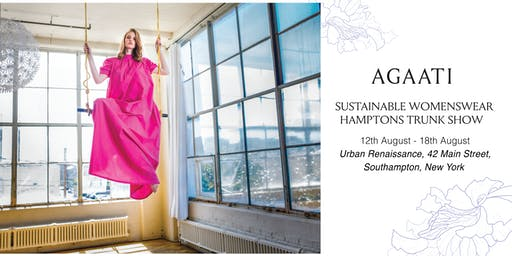 AGAATI POP-UP TRUNK SHOW IN HAMPTONS