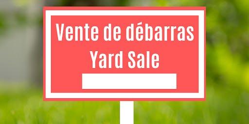 Vente de débarras communautaire/Community yard sale