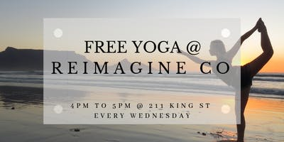 Free Yoga at Reimagine Co Every Wednesday