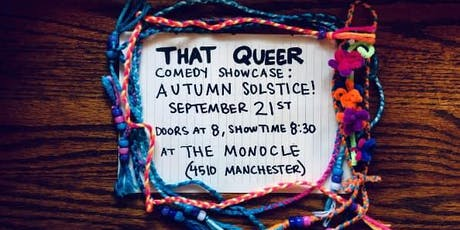 That Queer Comedy Showcase: Autumn Solstice tickets