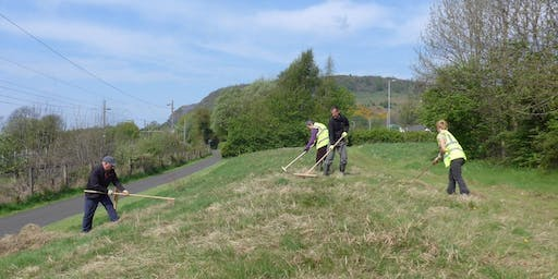 National Cycle Network Scything Task Day, Milton, West Dunbartonshire
