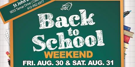 SJBC Back to School Weekend tickets