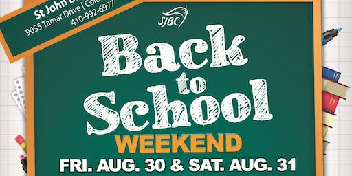 SJBC Back to School Weekend
