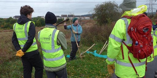 National Cycle Network Scything Task Day, Westburn, South Lanarkshire