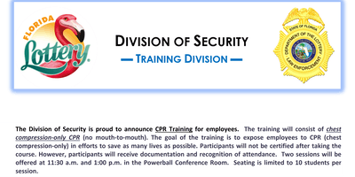 CPR Training (Non-Sworn) Session #16