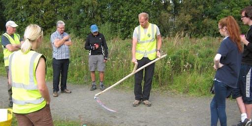 National Cycle Network Scything Task Day, Devon Village, Clackmannanshire