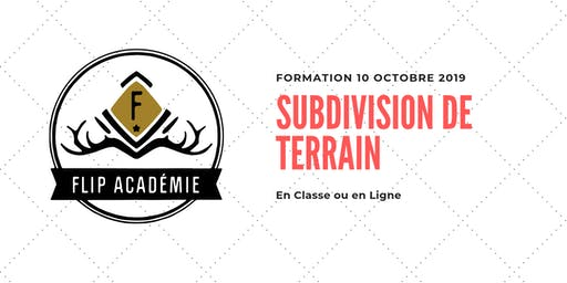 Formation : Subdivision de terrain