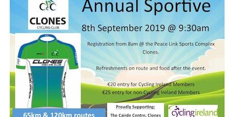 Clones Cycling Club Annual Sportive 2019 tickets