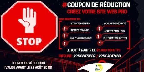 Créez Votre Site Web Pro   COUPON DE RÉDUCTION (VALIDE AVANT LE 23 AOÛT 2019)  billets