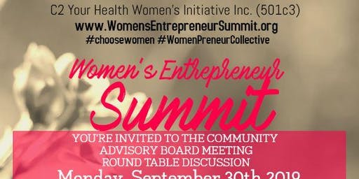 Women's Entrepreneur Summit Community Advisory Board Meeting - September