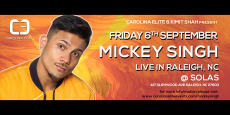 Mickey Singh: Live in Raleigh tickets