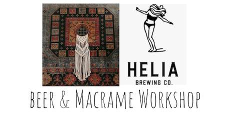 Macrame Hoop Hang Workshop at Helia Brewing Co. tickets