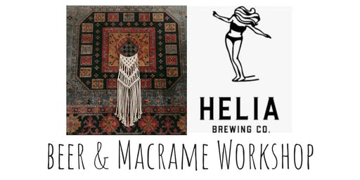 Macrame Hoop Hang Workshop at Helia Brewing Co.