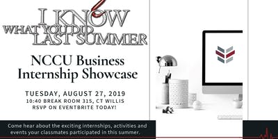 NCCU Business Summer Internship Showcase