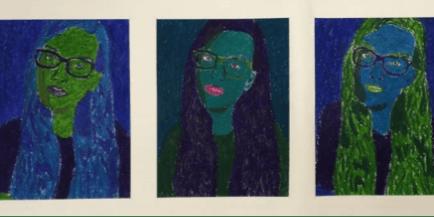 "Van Gogh's Ear ""Andy Warhol Selfie Portrait"" (6th-12th grade)"
