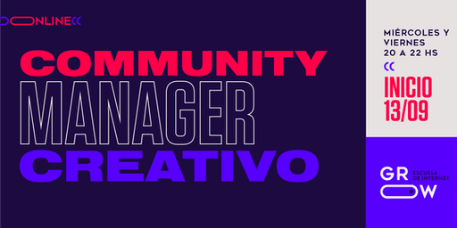 Community Manager Creativo (online)