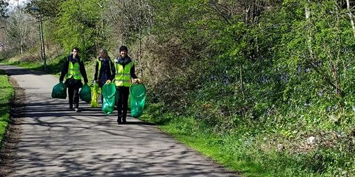 National Cycle Network Litterpick, West Dunbartonshire