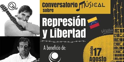 Conversatorio musical sobre represión y libertad entre Guillermo Dávila y Alfredo Romero