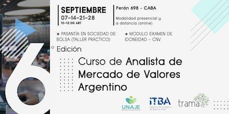 CURSO DE ANALISTA DEL MERCADO DE VALORES l 6º Edición entradas