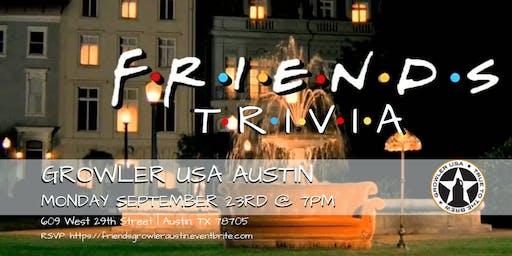 Friends Trivia at Growler USA Austin