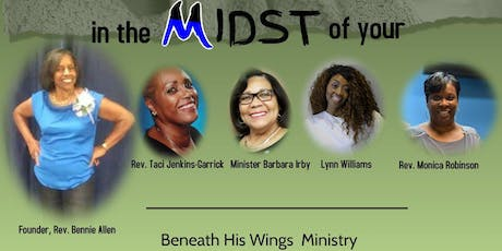 "Beneath His Wings Ministry Presents ""Finding Joy in The Midst of your Pain "" tickets"