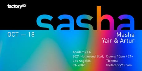 Sasha tickets