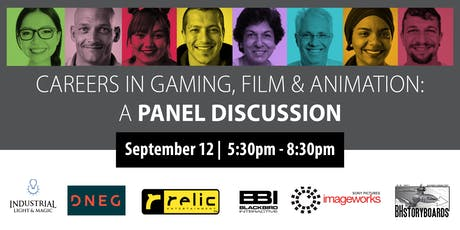 Careers in Gaming, Film & Animation: A Panel Discussion  tickets