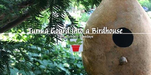 Turn a Gourd Into a Birdhouse