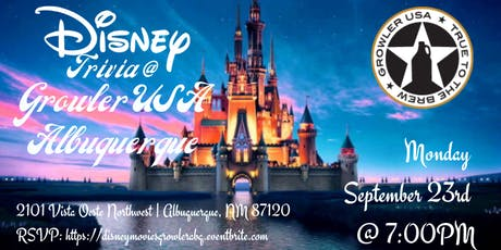 Disney Movie Trivia at Growler USA Albuquerque tickets