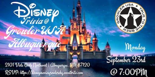 Disney Movie Trivia at Growler USA Albuquerque
