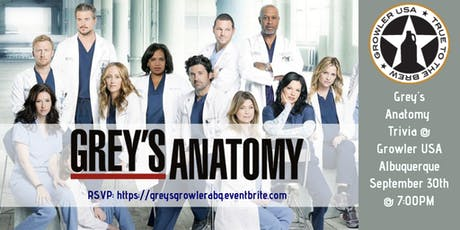 Grey's Anatomy Trivia at Growler USA Albuquerque tickets