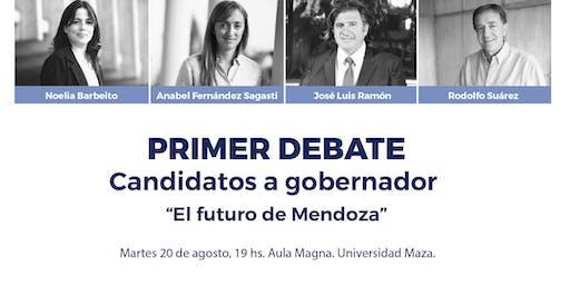 1°debate: Candidatos a gobernador de Mendoza. El futuro de Mendoza.