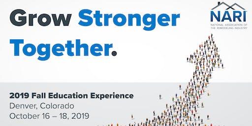 NARI 2019 Fall Education Experience