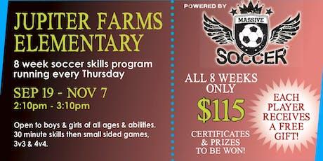 Jupiter Farms After School Soccer - FALL September 19 - November 7, 2019 tickets